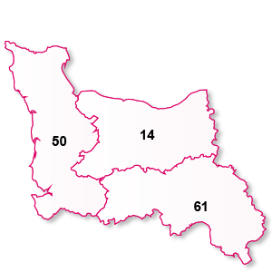 carte de la région Basse-Normandie
