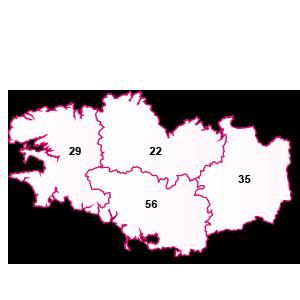 carte de la région Bretagne