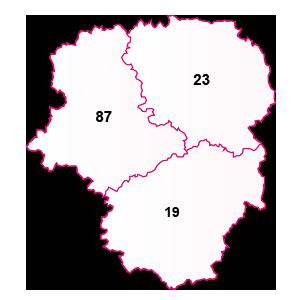 carte de la région Limousin