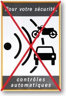 Fin des panneaux de signalisation desradars