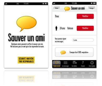 application smartphone - sauver un ami