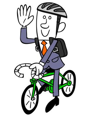Cycliste qui roule en sécurité