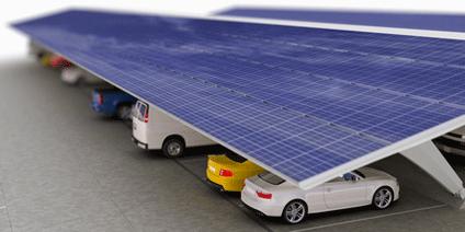 panneaux solaires et voitures