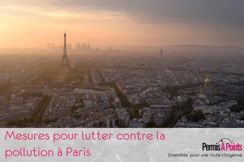 Mesures pour lutter contre la pollution à Paris