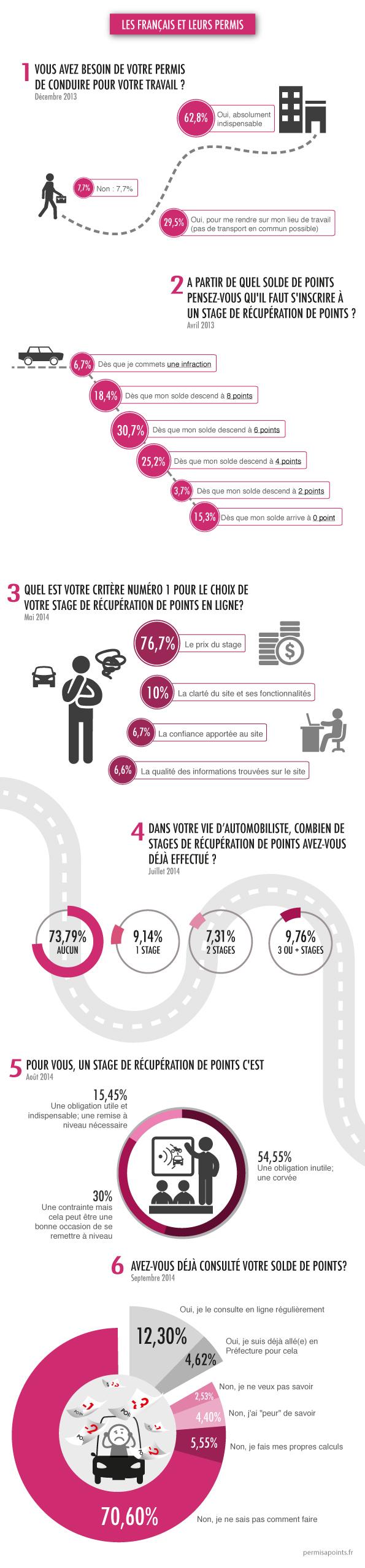infographie : les français et leur permis de conduire