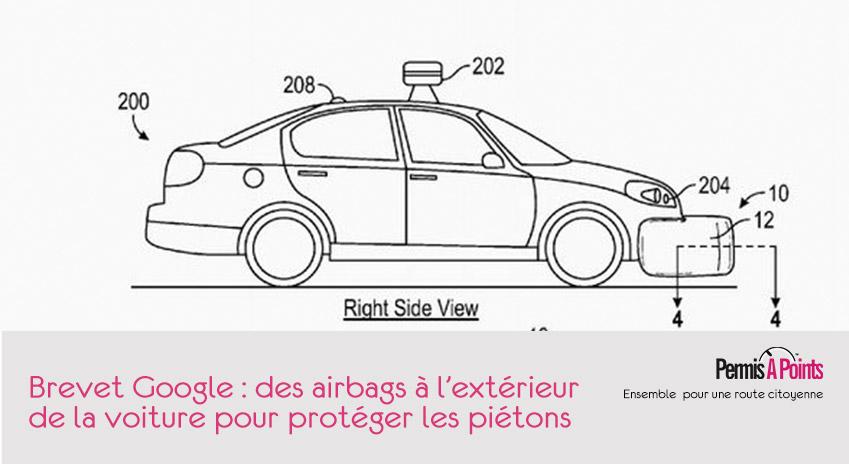brevet google airbags extérieurs