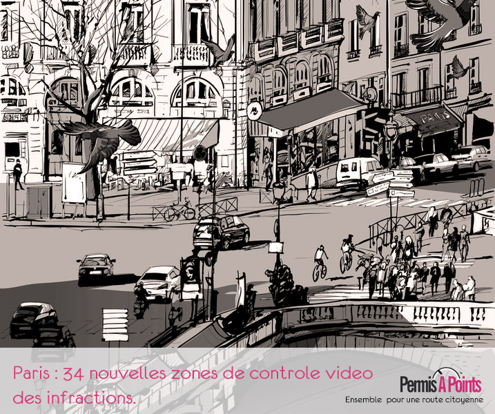 dessin rues de Paris