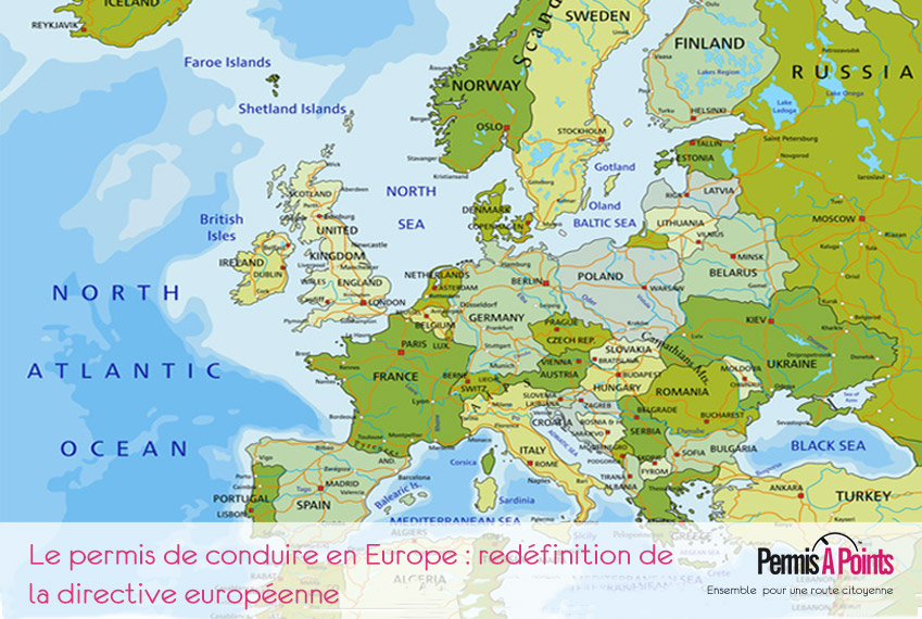 carte d'europe routes