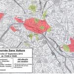Carte Paris journée sans voiture