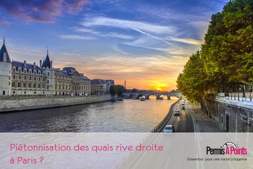 quais de Seine rive droite vue conciergerie