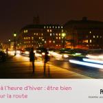 circulation à Paris de nuit