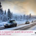 5 règles à respecter avant de prendre la route cet hiver