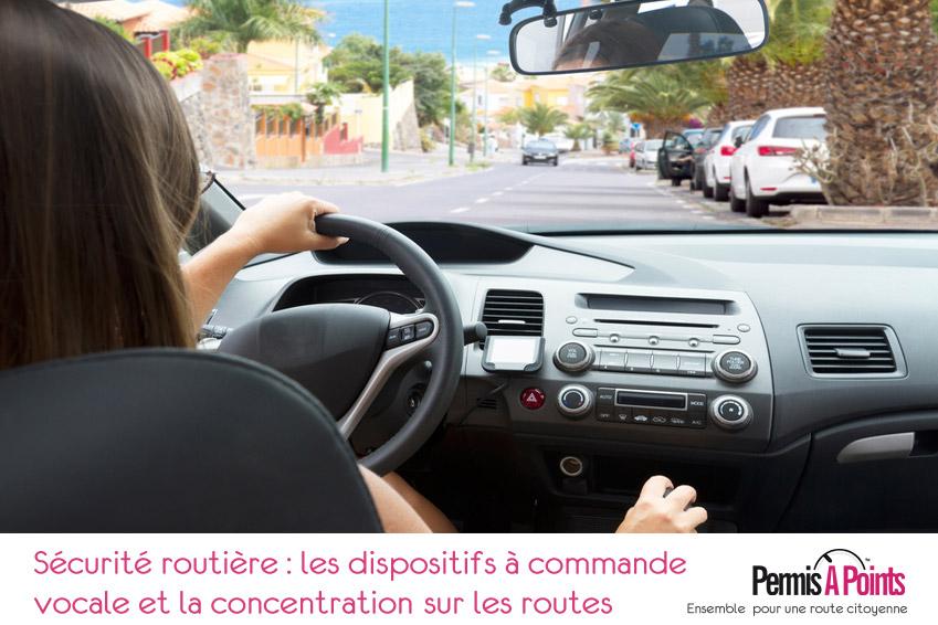 Sécurité routière : les dispositifs à commande vocale et la concentration sur les routes