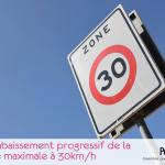 panneau zone à 30km/h