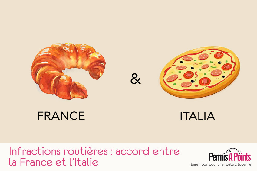 Infractions routières : accord entre la France et l''Italie