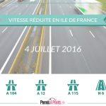 vitesse réduite en Ile de France