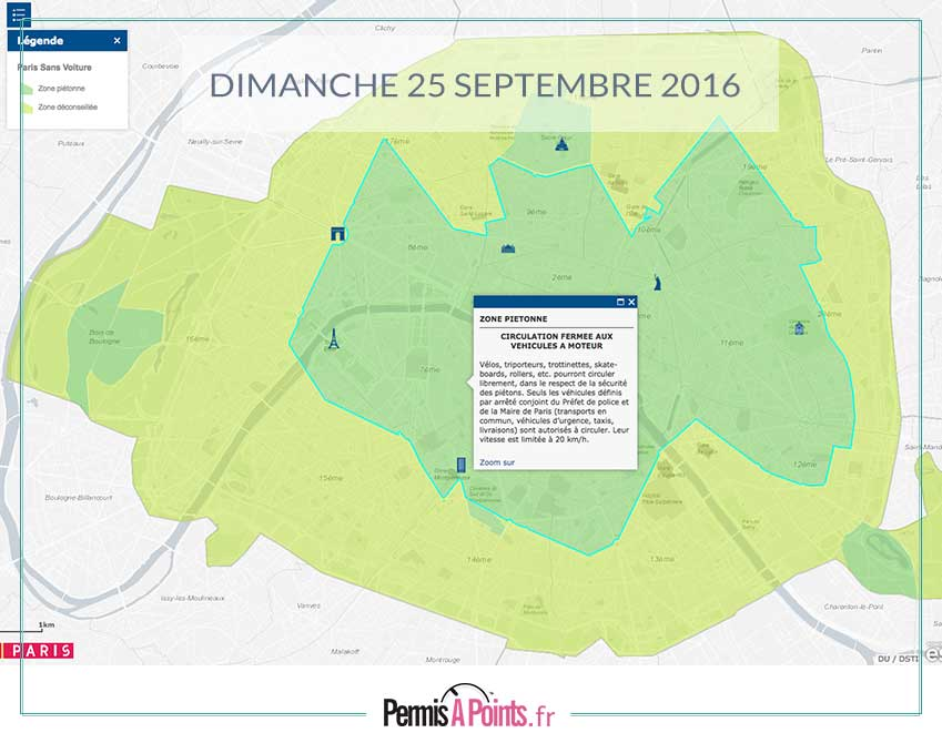 carte paris zone sans voiture