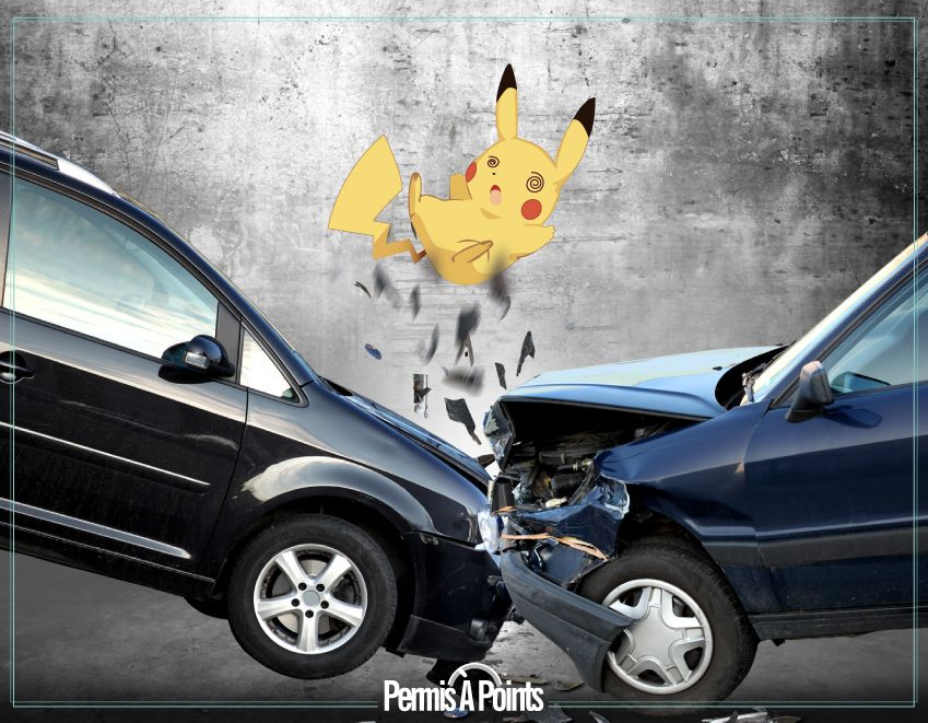 accident de voiture et pokemon