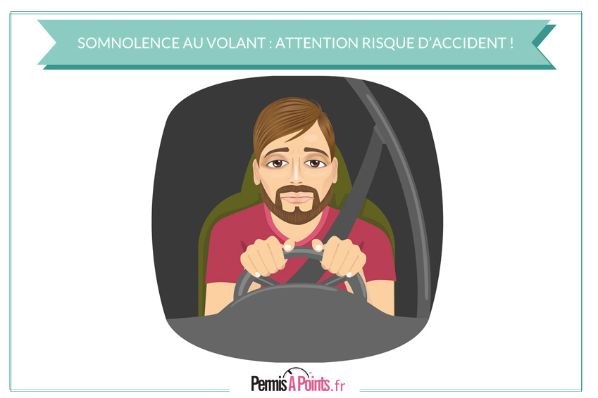 Somnolence au volant : attention risque élevé d'accident !