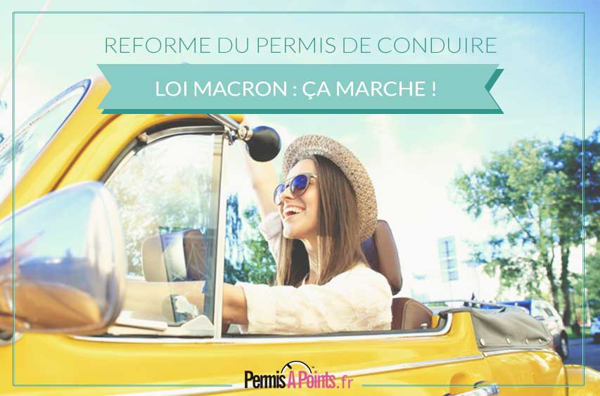 permis de conduire la loi macron porte ses fruits. Black Bedroom Furniture Sets. Home Design Ideas