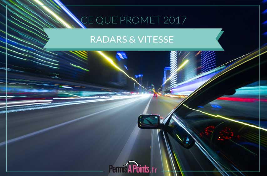 vitesse et radars en 2017