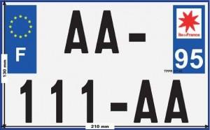 nouvelle plaque d'immatriculation pour les motos