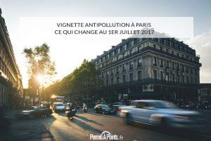 Vignette antipollution à Paris : ce qui change au 1er juillet 2017