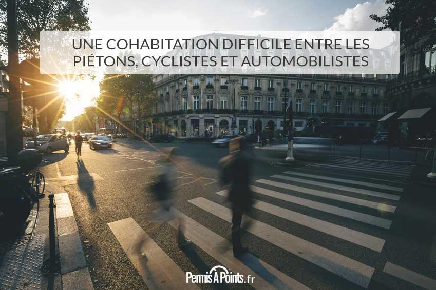 Une cohabitation difficile entre les piétons, cyclistes et automobilistes