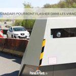 Les radars pourront flasher dans les virages