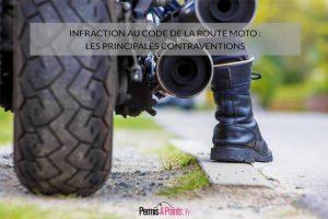 Infraction au code de la route moto : les principales contraventions