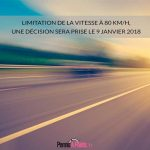 Limitation de la vitesse à 80 km/h, une décision sera prise le 9 janvier 2018