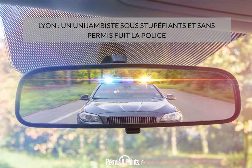 Lyon: un unijambiste sous stupéfiants et sans permis fuit la police