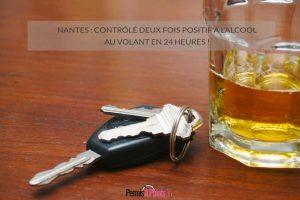 Nantes: contrôlé deux fois positif à l'alcool au volant en 24 heures!