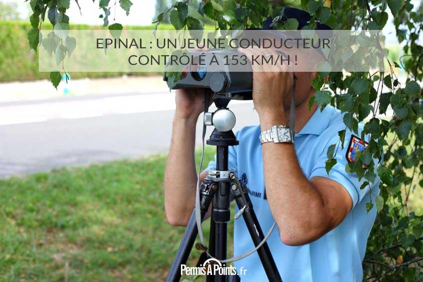 Epinal: Un jeune conducteur contrôlé à 153 km/h!
