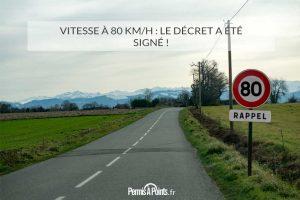 Vitesse à 80 km/h : le décret a été signé !