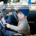 Rouen: il roulait sans permis et avec un enfant sur les genoux