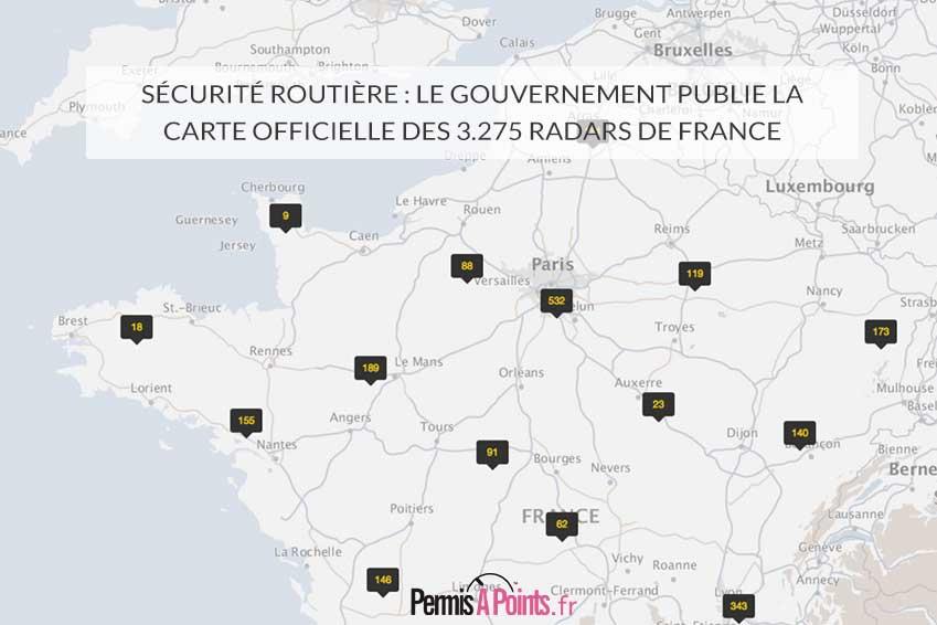 Sécurité routière : le gouvernement publie la carte officielle des 3.275 radars de France