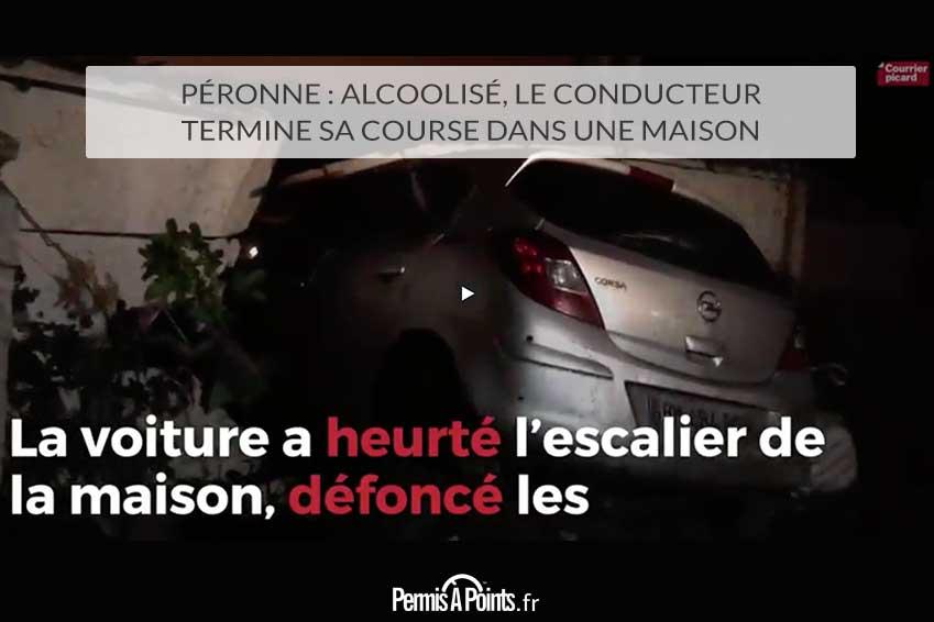 Péronne : alcoolisé, le conducteur termine sa course dans une maison