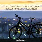 Sécurité routière : 57 % des cyclistes roulent mal éclairés la nuit