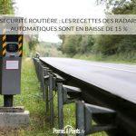 Sécurité routière : les recettes des radars automatiques sont en baisse de 15 %