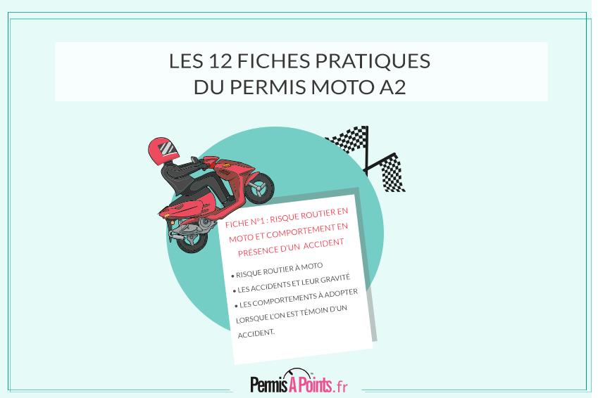 Les 12 fiches pratiques du permis moto A2