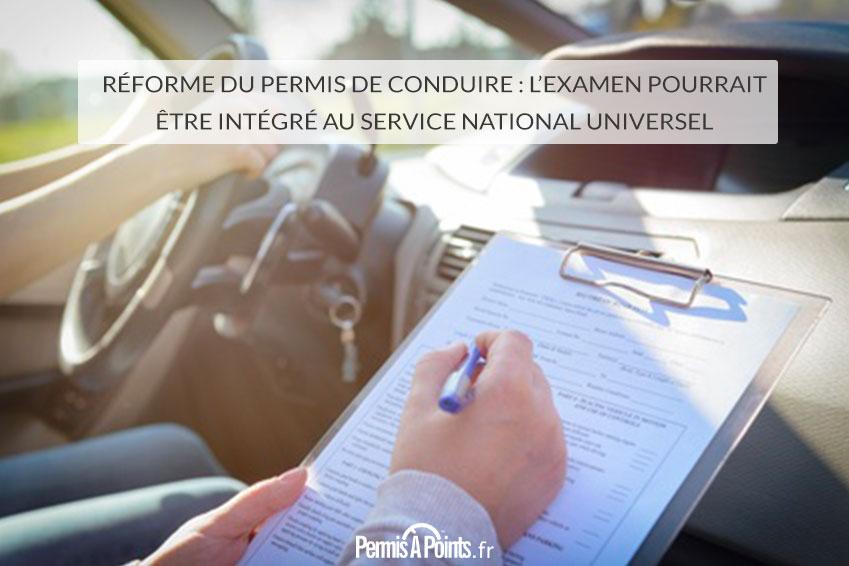 Réforme du permis de conduire : l'examen pourrait être intégré au service national universel