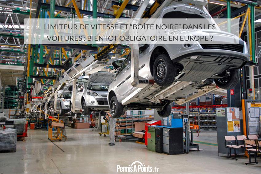 """Limiteur de vitesse et """"boîte noire"""" dans les voitures: bientôt obligatoire en Europe ?"""