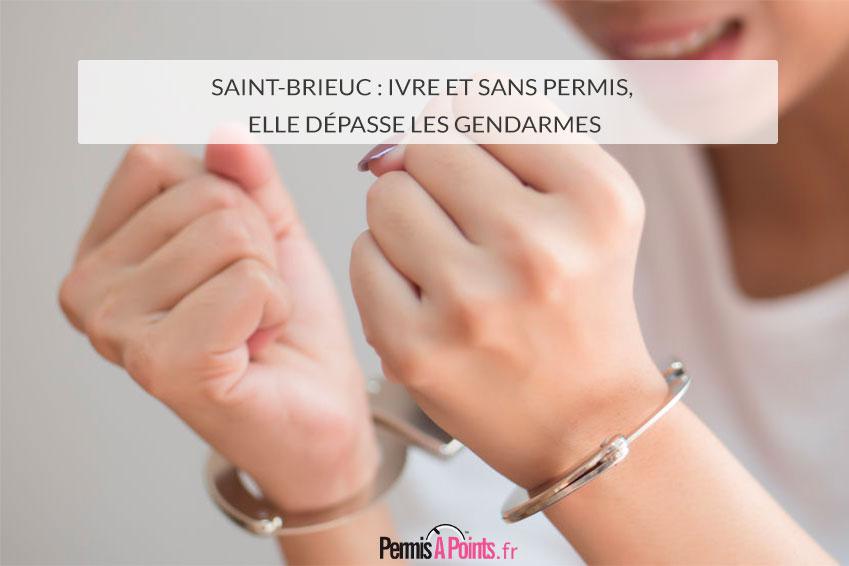 Saint-Brieuc : ivre et sans permis, elle dépasse les gendarmes
