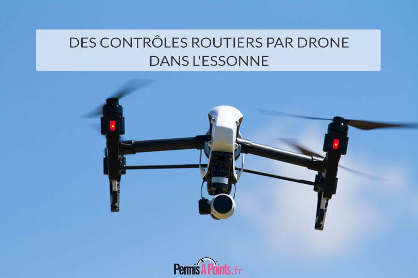 Des contrôles routiers par drone dans l'Essonne