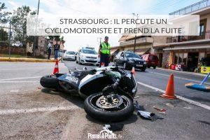 Strasbourg: il percute un cyclomotoriste et prend la fuite
