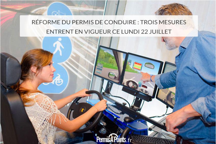 Réforme du permis de conduire : trois mesures entrent en vigueur ce lundi 22 juillet