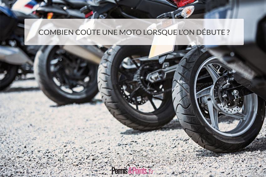 Combien coûte une moto lorsque l'on débute?