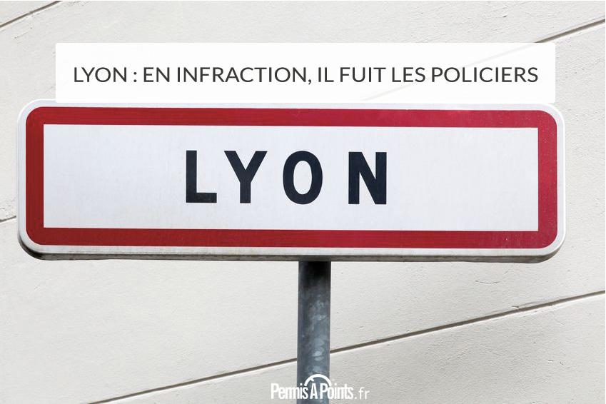 Lyon: en infraction, il fuit les policiers