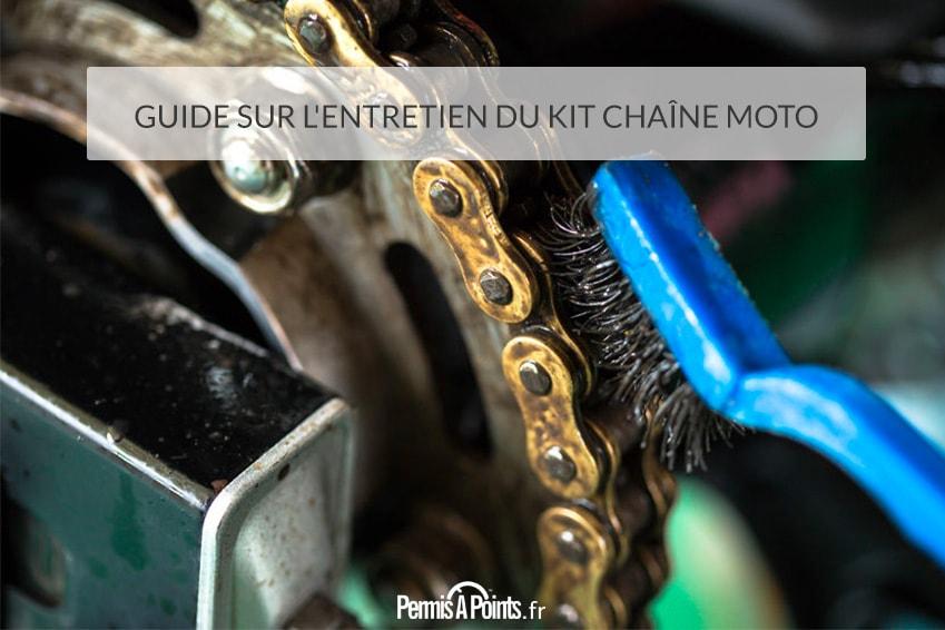 Guide sur l'entretien du kit chaîne moto